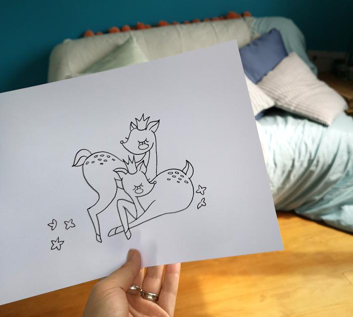 Printable : DIY cartable customisé (petite biches) pour petite fille instagrammable