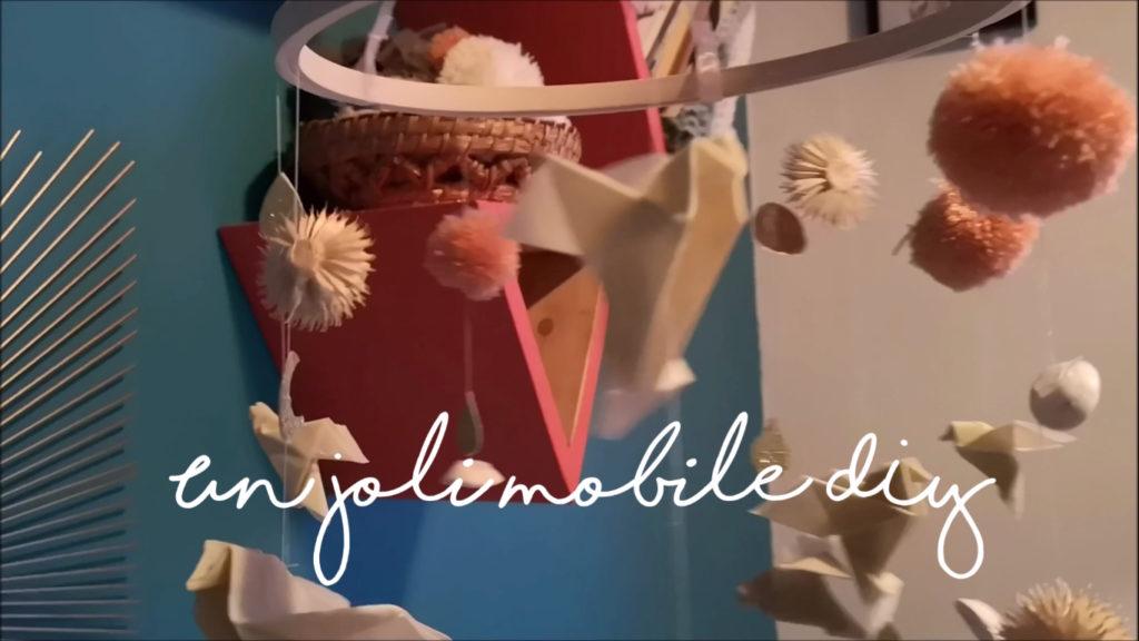 """DIY mobile pour bébé un peu bohème (tuto en vidéo) par """"je ne suis pas un poule"""""""